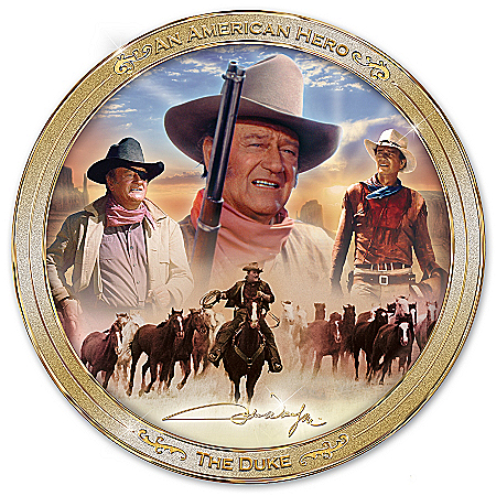 Collector Plate: An American Hero: John Wayne Collector Plate