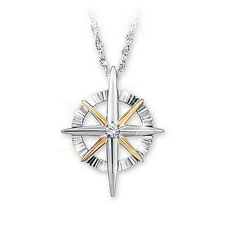 Women's Pendant: Light Of Faith Diamond Pendant Necklace