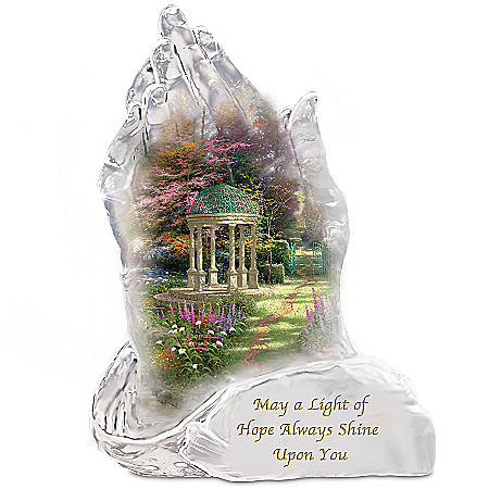 Sculpture: Thomas Kinkade Garden Of Hope And Inspiration Sculpture