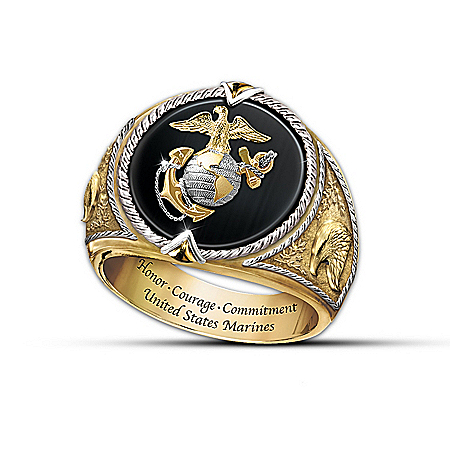 Men's Ring: Honor, Courage And Commitment Ring by The Bradford Exchange Online - Lovely Exchange