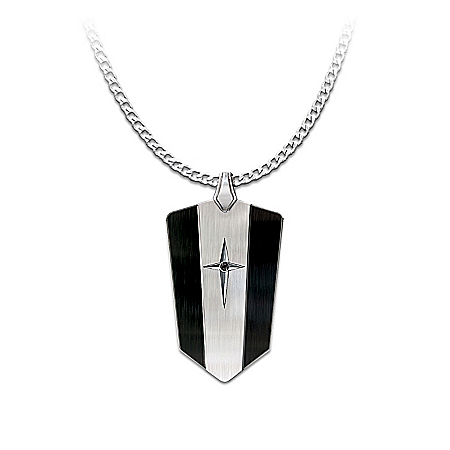 Black Sapphire: Protection And Strength For My Grandson Pendant Necklace