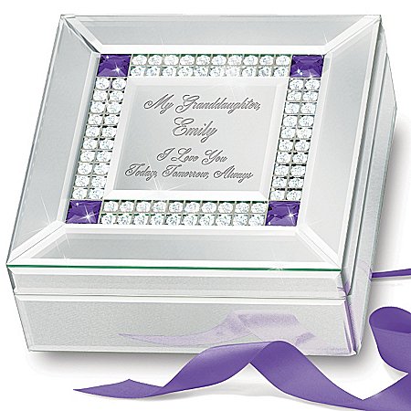 Music Box: Granddaughter, I Love You Personalized Music Box