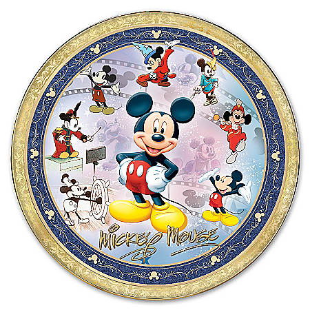 Collector Plate: Timeless Treasures: Mickey Mouse Masterpiece Collector Plate