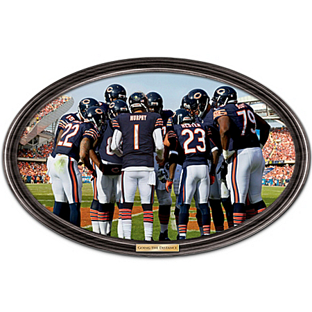 Wall Decor: Going The Distance Chicago Bears Personalized Wall Decor