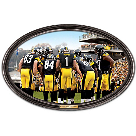 Photo of Wall Decor: Going The Distance Pittsburgh Steelers Personalized Wall Decor by The Bradford Exchange Online