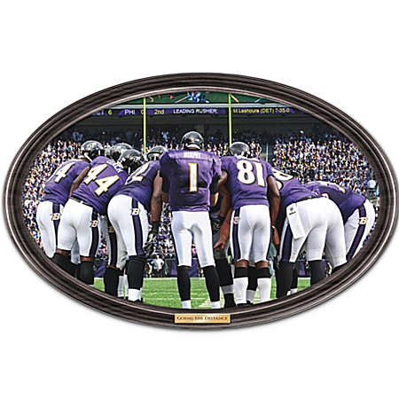 Wall Decor: Going The Distance Baltimore Ravens Personalized Wall Decor by The Bradford Exchange Online - Lovely Exchange