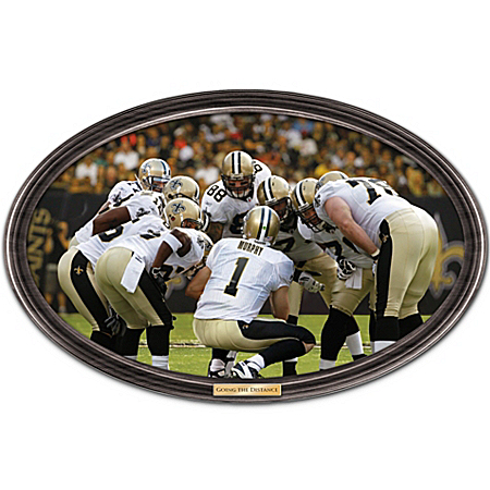 Wall Decor: Going The Distance New Orleans Saints Personalized Wall Decor