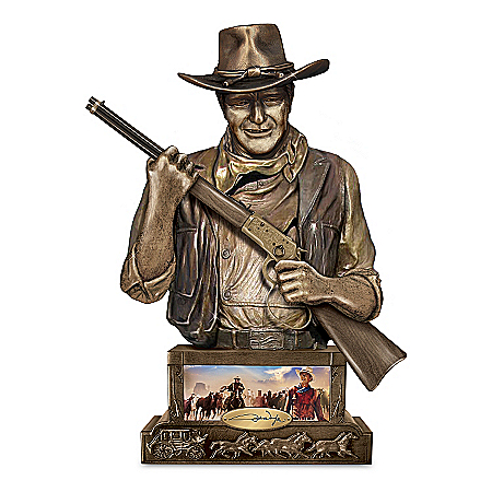 Photo of Bank: John Wayne, Guardian Sculpted Western Bank by The Bradford Exchange Online