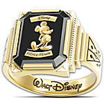Ring - Disney Mickey Mouse 1928 Commemorative With 18K-Gold Plating