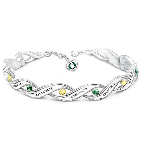 Women's Bracelet: University Of Oregon Pride Bracelet by The Bradford Exchange Online - Lovely Exchange