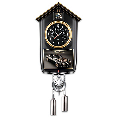 1977 Pontiac Firebird Iconic American Muscle Car Cuckoo Clock