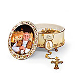 Pope Commemorative Porcelain Music Box - His Holiness Pope Francis