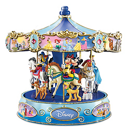 Wonderful World Of Disney Walt Disney's Classic Characters Musical Carousel