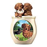 Cookie Jar - Cookie Capers - The Dachshund Cookie Jar