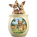 Cookie Capers - The Chihuahua Cookie Jar Featuring Linda Picken's Dog Art