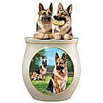 Cookie Capers - The German Shepherd Handcrafted Cookie Jar