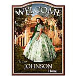 Welcome Sign - Home To Tara - Gone With The Wind Family Personalized Wooden Welcome Sign