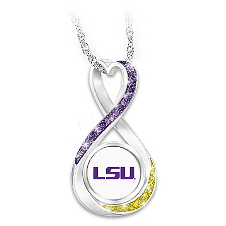 2019 Football National Champions LSU Tigers Women's Pendant Necklace