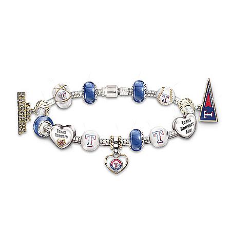 Bracelet: Go Texas Rangers! #1 Fan Charm Bracelet