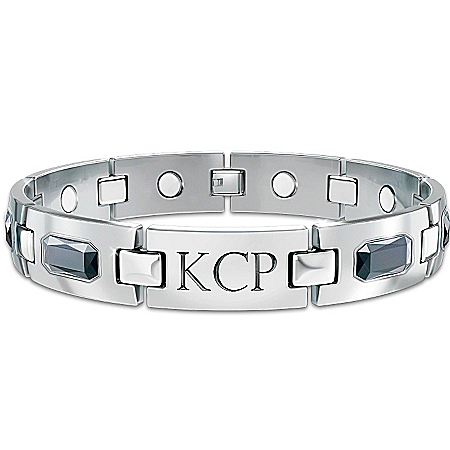 Optimum Personalized Men's Titanium Magnetic ID Bracelet – Personalized Jewelry