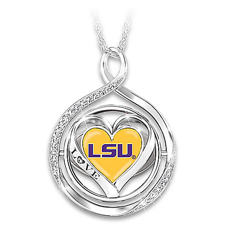 2019 Football National Champions LSU 2-In-1 Flip Pendant