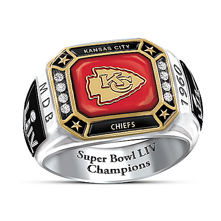 Kansas City Chiefs Super Bowl LIV Men's Personalized Commemorative NFL Fan Ring – Personalized Jewelry