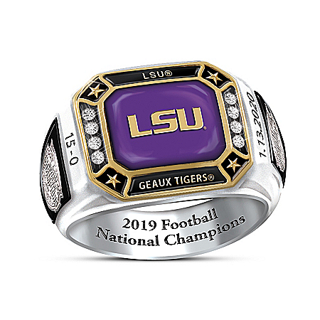 2019 Football National Champions LSU Tigers Ring