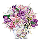 A Mother's Love Personalized Always In Bloom Floral Arrangement Table Centerpiece