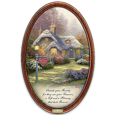 Collector Plate: Thomas Kinkade Family Treasures Personalized Collector Plate