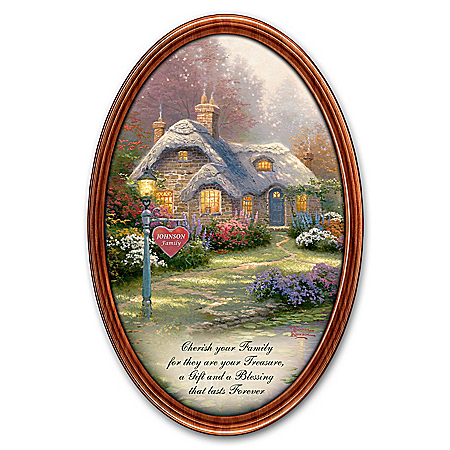 Personalized Collector Plate: Thomas Kinkade Family Treasures Masterpiece Plate