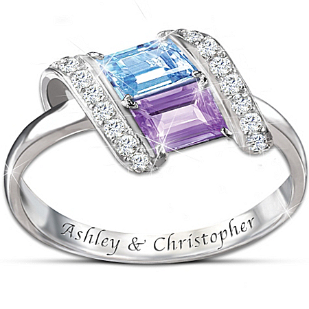 Women's Ring: Rhythm Of Romance Personalized Ring – Personalized Jewelry