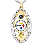 For The Love Of The Game Pittsburgh Steelers Pendant Necklace