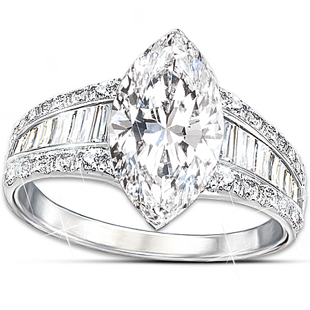 Ring: Bob Mackie Art Deco Diamonesk Ring by The Bradford Exchange Online - Lovely Exchange