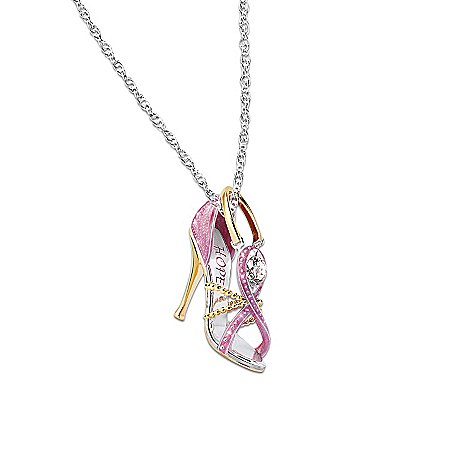 Women's Necklace: Step Out For Hope Pendant Necklace