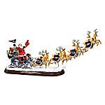 A Broncos Merry Christmas! Denver Broncos Santa Claus Sleigh Sculpture