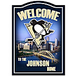 Welcome Sign - Pittsburgh Penguins® Personalized Welcome Sign