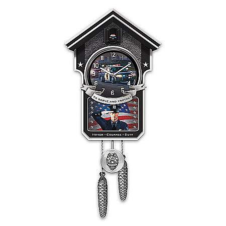 Cuckoo Clock: Serve And Protect Police Cuckoo Clock