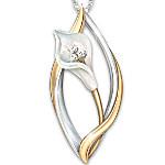 Necklace - Heaven's Promise Lily Remembrance Pendant Necklace