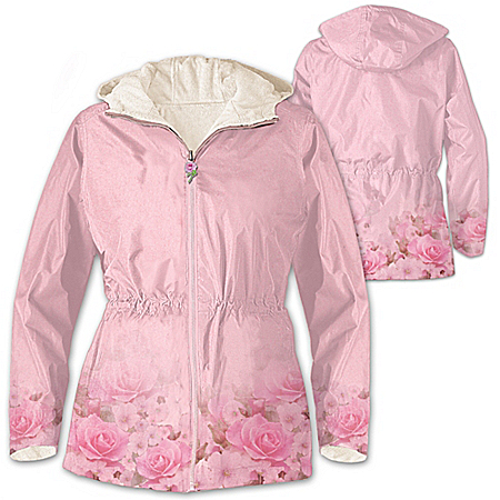 Jacket: Blush Of Beauty Anorak Fleece-Lined Women's Jacket by The Bradford Exchange Online - Lovely Exchange