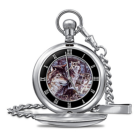 Watch: Al Agnew Spirit Of The Wolf Men's Pocket Watch