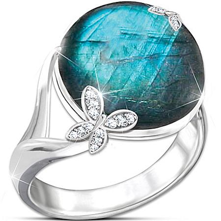 Ring: Amazon Beauty Genuine Labradorite Ring