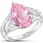 Ring - Pink Beauty Diamonesk Sterling Silver Ring