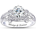 Ring - Sterling Silver Happily Ever After Genuine White Topaz Ring