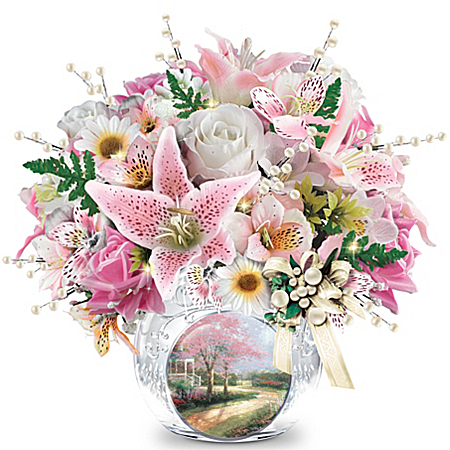 Table Centerpiece: Thomas Kinkade Treasured Moments Table Centerpiece
