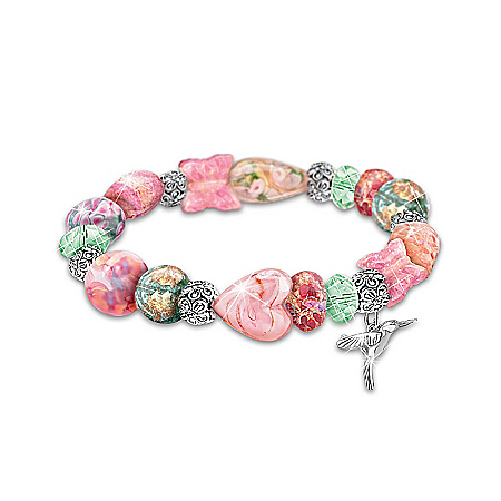 Lena Liu Garden Of Beauty Murano Style Glass Bracelet
