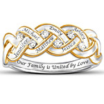 Women's Ring - Strength Of Family Personalized Diamond Ring
