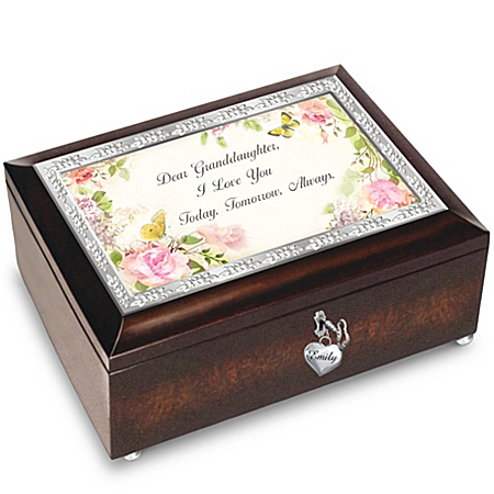 Granddaughter, I Love You Always Personalized Heirloom Music Box