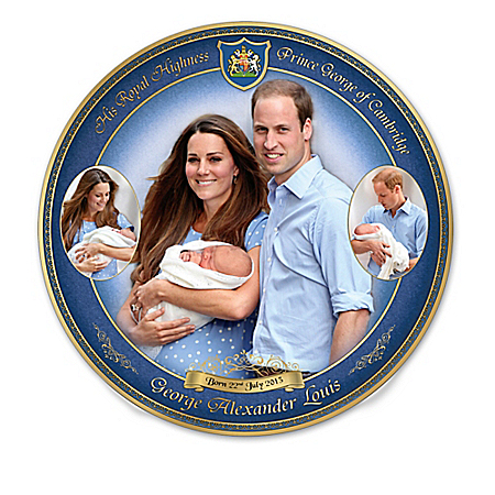 Collector Plate: Prince George – Our Royal Heir Collector Plate