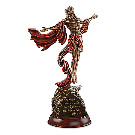 Sculpture: The Power Of Faith Jesus Christ Masterpiece Cold-Cast Bronze Sculpture 119120001