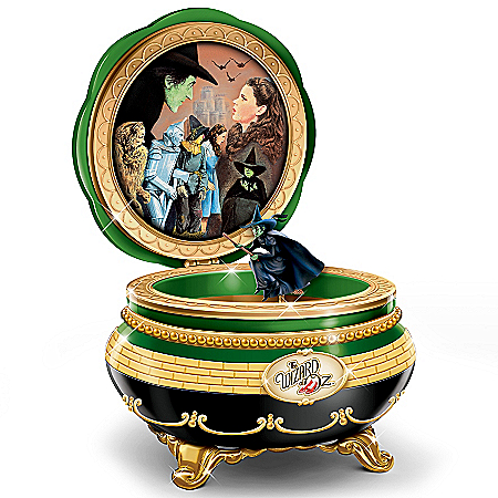 The Wizard Of Oz Wicked Witch Of The West Porcelain Music Box